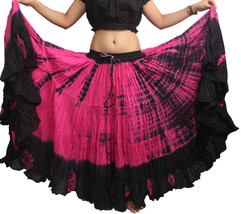 Tie Dye 25 Yard ATS Tribal 4 Tier Gypsy Skirt Full Circle - $36.88