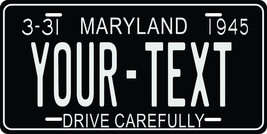 Maryland 1945 License Plate Personalized Custom Car Bike Motorcycle Moped Tag - $10.99+