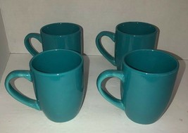 Royal Norfolk Turquoise Stoneware Coffee Mugs Dinnerware Cups New Set Of 4-RARE - $39.48