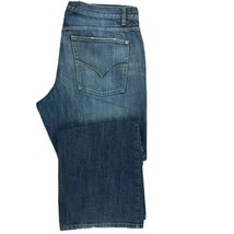 Bergamo New York Men's Regular Fit Boot Cut Jean SZ 38 x 30 Med Distress... - $15.00