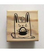 Craft Smart EASTER BUNNY Rubber Stamp Basket Eggs Chick Rabbit Spring Wo... - $2.97