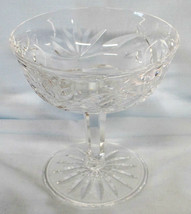 "Waterford Ashling Cut 4 1/8"" Tall Sherbet or Champagne Stem Goblet - $24.64"