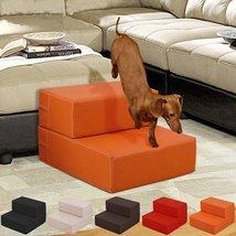 2 Steps PU Leather Pet Dog Cat Stair Portable Folding Climb Ramp Pants E... - $39.99