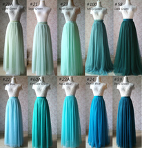 Floor Length Tulle Skirt High Waisted Wedding Bridesmaid Separate Deep Green image 10