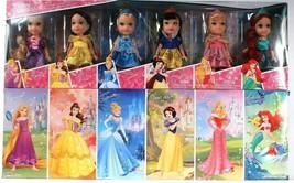 1 Disney Petite Princess 6 Piece Gift Set Rapunzel Belle Cinderella Snow... - $62.99