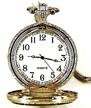 POCKET WATCH - BIKE - BRIGHT SILVERED