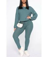 fashion nova NWT women's you gotta chill lounge set size 2XL Teal Blue L7 - $34.65