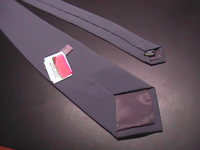 Geoffrey Beene Neck Tie Solid Gray Never Used and Unworn with Paper Tags
