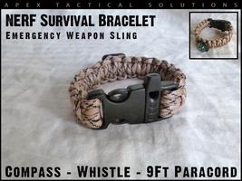 Custom NERF Gear - NERF Paracord Survival Bracelet - TAN - $1.99