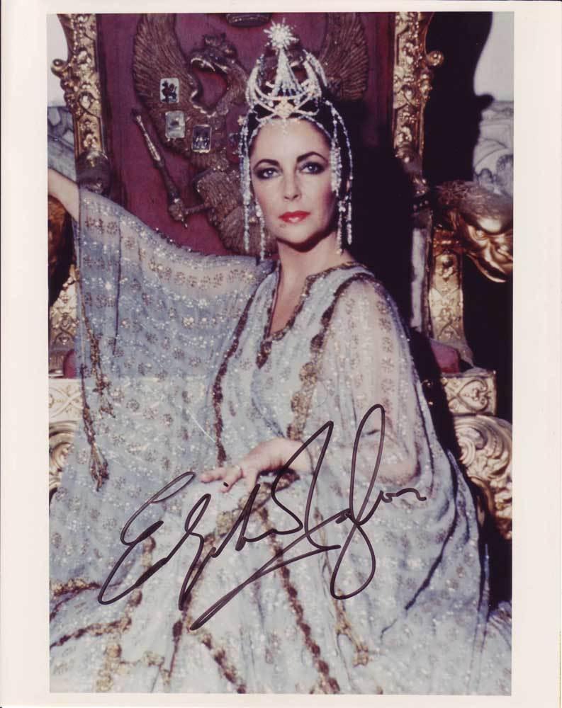 Elizabeth Taylor in-person autographed photo - $1,200.00
