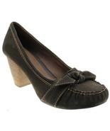 Nurture Womens Size 9 Brown Suede Leather Moc Toe Retro Pumps Heels - $25.98