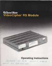 Channel Master VideoCipher RS Module Operating Instructions 1993 - $4.00