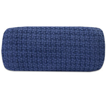 100% Cotton Houndstooth Stitch Woven Grand Hotel Blanket King Navy - $38.69