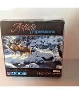 Artistic Impressions 1000 Piece Jigsaw Puzzle Wildlife Deer Snow Sealed - $19.95