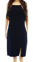 NWT Ralph Lauren Women's Hurichesta Cut-Out Sheath Dress, Black Size 14 - $65.25