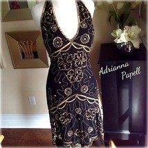 Roaring 20s Inspired Gatsby Dress Beaded Sequin Scallop Flapper Silk Deco MEDIUM - $150.00