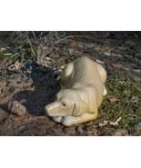 Yellow Labrador Glazed Ceramic Figurine - Mint! - $8.00