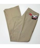 Dickies Ladies/Juniors Casual Pants Size 11 Khaki Flat Front Straight Le... - £14.54 GBP