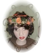 Head Wreath Fairy  sea beach ocean theme peach rose handmade bridal CLEA... - $18.00