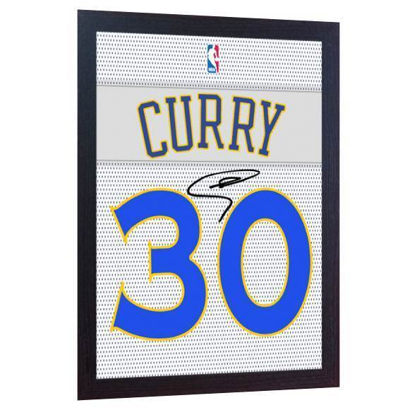 Stephen Curry Golden State Warriors signed  printed on CANVAS 100% Cotton Framed