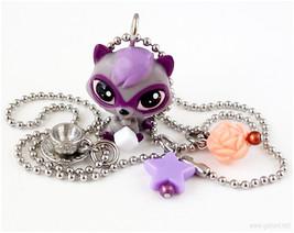 LPS Charm Necklace, Raccoon Figure Necklace, Littlest Pet Shop, LPS Jewe... - $16.00