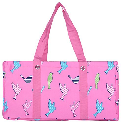 Wireframe All Purpose Large Utility Bag (Pink Birds)