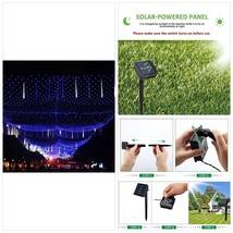 Solar Net Light Mesh Lighting Outdoor Curtain Lights String Waterproof w... - $49.82