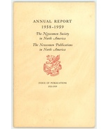 The Newcomen Society  North America  Annual report 1958 1959  Index of P... - $6.50