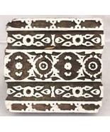 MUGHAL DESIGN WOODEN HANDBLOCK PRINTING STAMP BLOCK CRAFT MAKING CLAY AR... - $19.04