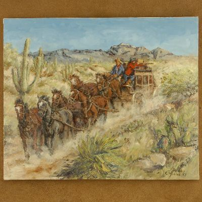 Six Up Southwest Painting Limited Edition Stagecoach Giclee Print