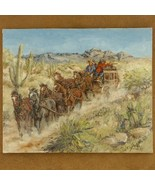 Six Up Southwest Painting Limited Edition Stagecoach Giclee Print - $150.07