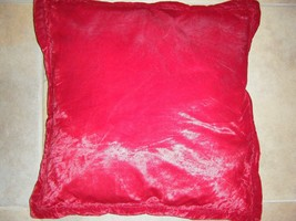 VINTAGE BURGUNDY RED VELVET PILLOW 20 X 20 - $8.99