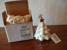"Mikasa Christmas Starlight Tree Ornament 3"" Gold Cream White - $12.95"