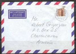 1997 Germany 300pf Historic Sites stamp, cover to Armenia - $4.00