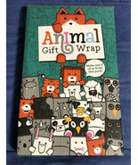 Animal Gift Wrap Wrapping Paper Make 6 Cardboard Animal Shaped Gifts By ... - $7.12