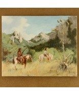 Southwestern Indian Waiting Painting Limited Edition Giclee Print Art - $150.07