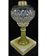 Antique Early Peacock Feather Rare Composite Kerosene Oil Pedestal / Sta... - $104.45