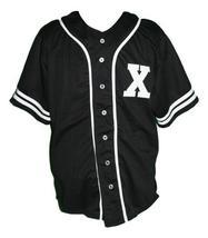 Malcolm X Baseball Jersey Button Down New Sewn Black Any Size image 3