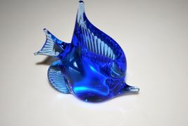 "Murano Handcrafted Crystal Art Glass Blue Fish 4"" - $14.95"