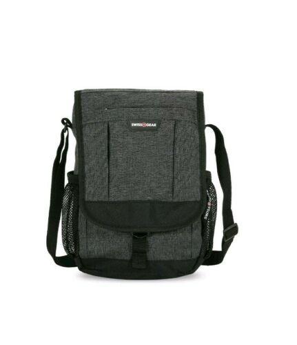 NEW SwissGear Vertical Heather Gray Travel Bag Unisex Crossbody Bag