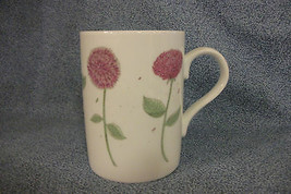 "Russ Berrie Floral Coffee Mug / Cup Made in Korea 3 3/4"" High - $5.45"