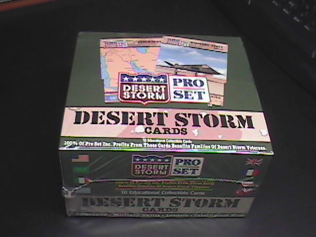Collectible desert storm cards pro set 36ct cards boxed   sealed 04