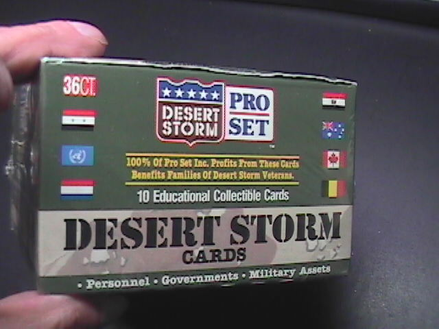 Desert Storm Pro Set Cards Sealed Box Containing 36 Sealed Card Packets