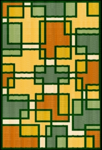 Latch Hook Rug Pattern Chart: RECTANGLEMAZE - EMAIL2u