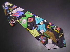 Nicole Miller Neck Tie Golf Theme Any Excuse To Go Golfing 1991 Silk Black - $10.99