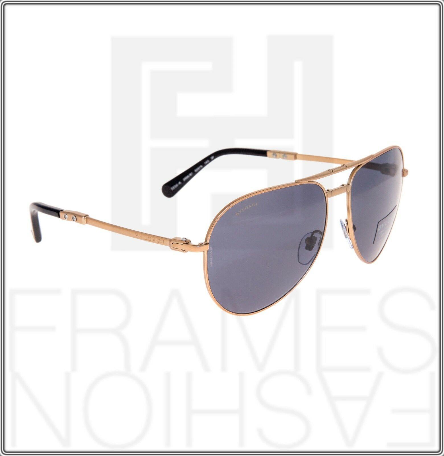 BVLGARI Le Gemme Black Rose Gold 18K Plated POLARIZED Foldable Sunglasses 5034 image 5