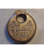 Very Old solid Bronze Champion 6 lever lock   - $12.99