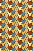 Latch Hook Rug Pattern Chart: Arrowheads - EMAIL2u - $5.75