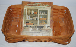 Longaberger Gathering Basket 1994 & Book Fresh from the Pantry Cookbook ... - $44.50