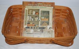 Longaberger Gathering Basket 1994 & Book Fresh from the Pantry Cookbook ... - $44.50